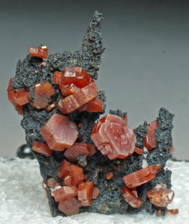 Vanadinite on Goethite from Atlas Mountains, Morocco [db_pics/July_2011/Vanadinite1b.jpg]